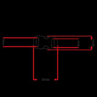 """123Paracord Alu-Max 10MM (3/8"""") buckle Schwarz Schnalle"""
