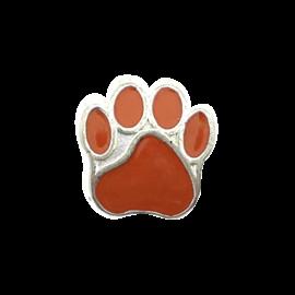 123Paracord Perle metall hund Pfote Orange