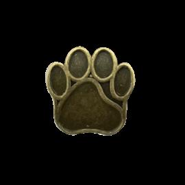 123Paracord perle metall hund Pfote Bronze