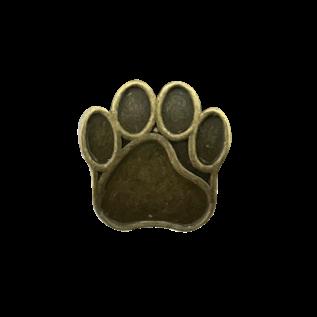 123Paracord Paracord perle metall hund Pfote Bronze