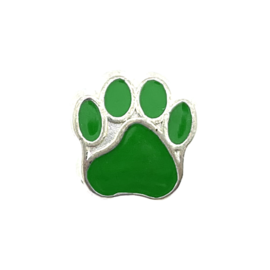 123Paracord perle metall hund Pfote grün