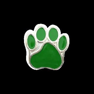 123Paracord Paracord perle metall hund Pfote grün