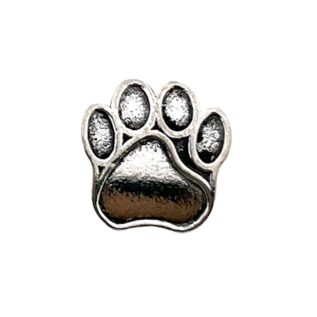 123Paracord Paracord perle metall hund Pfote Silber