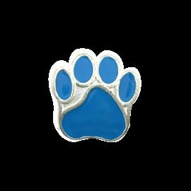 123Paracord Perle metall hund Pfote blau
