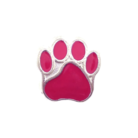 123Paracord Perle metall hund Hot Pink