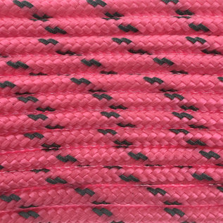 123Paracord Paracord 100 typ I Rosa Neon Reflektierend