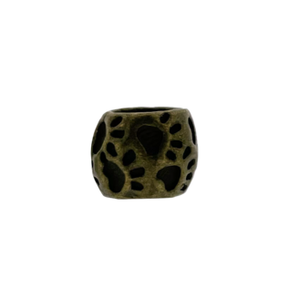 123Paracord perle Hund Pfote rund Bronze