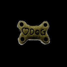 123Paracord perle Hundeknochen Bronze