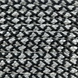 123Paracord Paracord 100 typ I Silber Grau Diamond