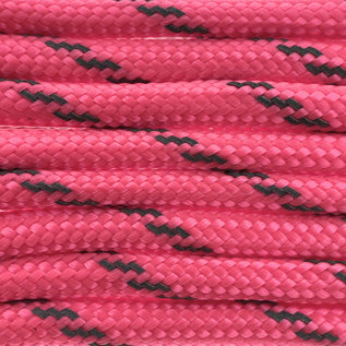 123Paracord Paracord 550 typ III Pink neon Reflektierend