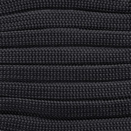 123Paracord Paracord 550 typ III Anthrazit Flach / Kernlose