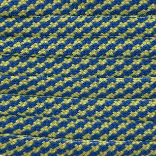123Paracord Paracord 550 typ III blau / gelb Turn Flach / Kernlose