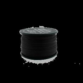 123Paracord Nano cord Schwarz 90mtr