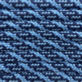 123Paracord Paracord 550 typ III Midnight Blau / Baby Blau Helix DNA