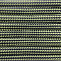 123Paracord Paracord 550 typ III moss / Schwarz Stripes