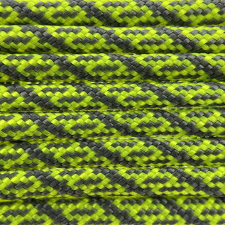 123Paracord Paracord 550 typ III Neon Gelb / charcoal Grau Helix DNA