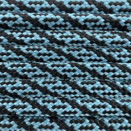 123Paracord Paracord 550 typ III Neon Türkis / Schwarz Helix DNA