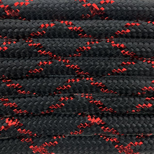 123Paracord Paracord 550 typ III Red Knight Metallic Glitter Black / Red Tracer X
