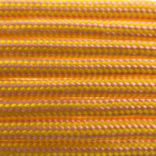 123Paracord Paracord 550 typ III Rose Rosa / Canary Gelb Stripes