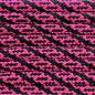 123Paracord Paracord 550 typ III Ultra Neon Rosa / Schwarz Helix DNA