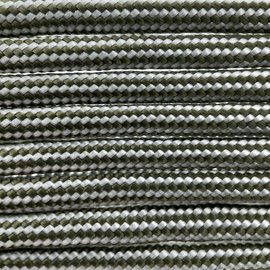 123Paracord Paracord 550 typ III Weiss / Olive Drab Stripes