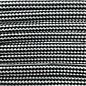 123Paracord Paracord 550 typ III Silber Grau / Schwarz Stripes