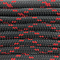 123Paracord Paracord 550 typ III Schwarz / Imperial Rot X