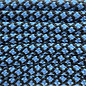 123Paracord Paracord 550 typ III dunkel Baby Blau Diamond