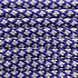 123Paracord Paracord 550 typ III Deep lila & Silber grau Diamond