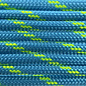 123Paracord Paracord 550 typ III Dunkel cyan / Neon gelb