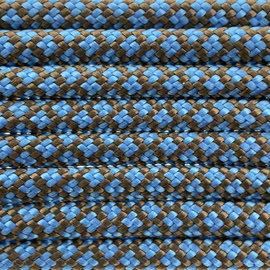 123Paracord Paracord 550 typ III Hazelnut Braun / dunkel Baby Blau Diamond