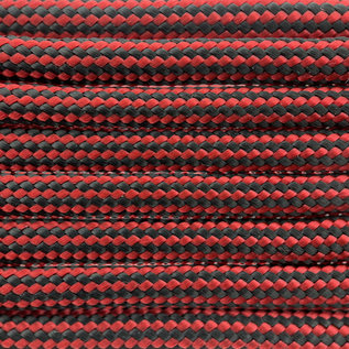 123Paracord Paracord 550 typ III Imperial Rot Stripes