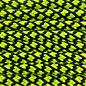 123Paracord Paracord 550 typ III Schwarz & Ultra Neon Gelb Diamond