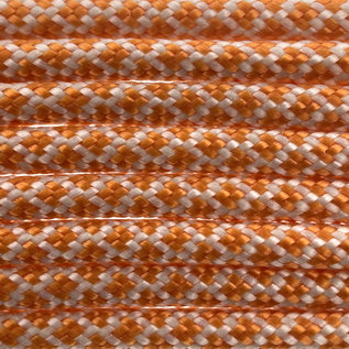 123Paracord Paracord 550 typ III Cream / International Orange Diamond