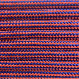 123Paracord Paracord 550 typ III Electric Blau / Neon Orange Stripes