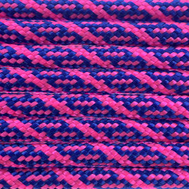 123Paracord Paracord 550 typ III Electric Blau / Ultra Neon Rosa Helix DNA