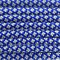 123Paracord Paracord 550 typ III Electric Blau /Silber Grau Diamond
