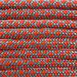 123Paracord Paracord 550 typ III Türkis / Neon Orange Diamond