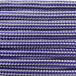 123Paracord Paracord 550 typ III Lila Silber stripe