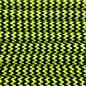 123Paracord Paracord 550 typ III Ultra Neon Gelb & Schwarz Shockwave