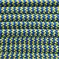 123Paracord Paracord 550 typ III blau / gelb Shockwave