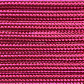 123Paracord Paracord 550 typ III Burgundy / Ultra Neon Rosa Stripes