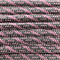 123Paracord Paracord 550 typ III Charcoal Grau / Rosa lavender Helix DNA