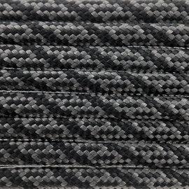 123Paracord Paracord 550 typ III Charcoal Grau / Schwarz Helix DNA