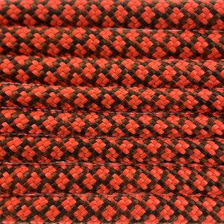123Paracord Paracord 550 typ III chocolate Braun / Neon Orange Diamond