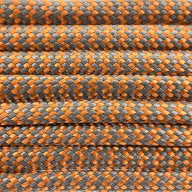 123Paracord Paracord 550 typ III Orange / Grau Shockwave