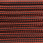 123Paracord Paracord 550 typ III Rot / schwarz Stripes