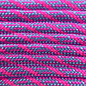 123Paracord Paracord 550 typ III Baby Blau / Neon Rosa Helix DNA