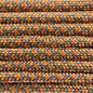 123Paracord Paracord 550 typ III Steel Grau / Fox Orange Diamond