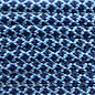 123Paracord Paracord 550 typ III Baby Blau / Midnight Blau Diamond